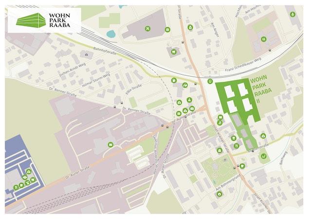 Wohnpark Raaba Lageplan