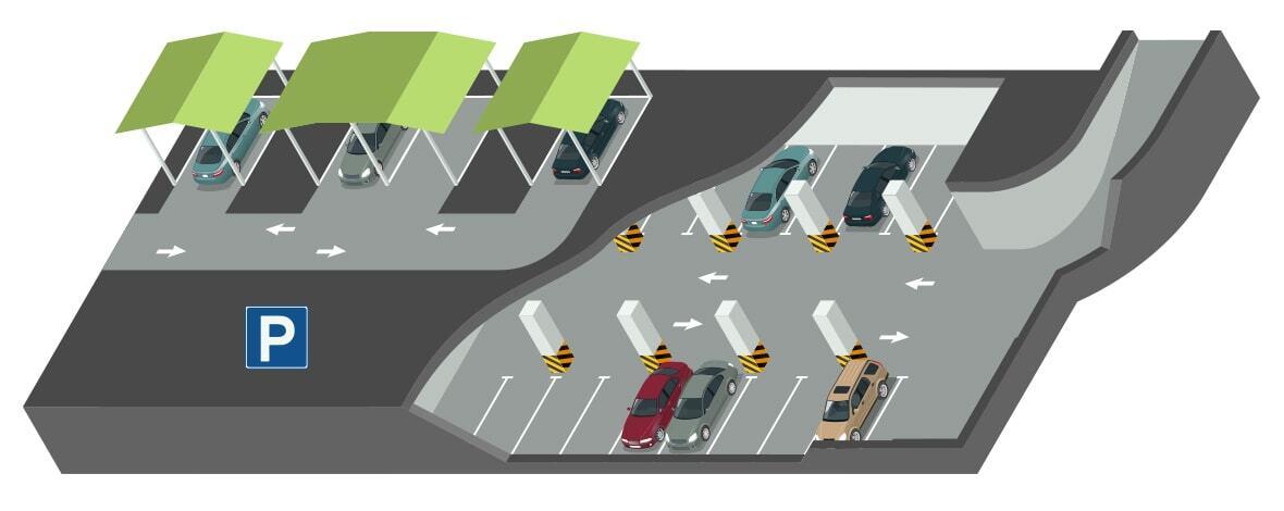 Wohnpark Raaba Parkplatz Auswahl