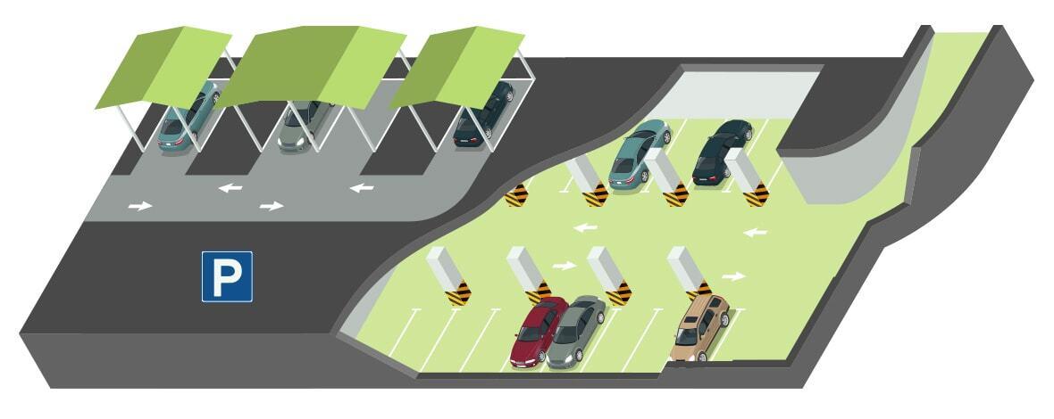 Wohnpark Raaba Parkplatz Auswahl Tiefgaragenplätze