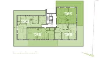 Grundriss OG3 Haus 4 Wohnpark Raaba
