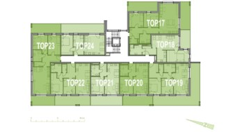 Grundriss OG2 Haus 7 Wohnpark Raaba